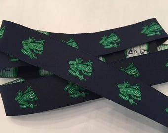 """Frogs Woven Ribbon 7/8"""""""