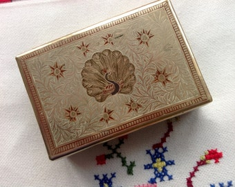 Indians brass trinket box