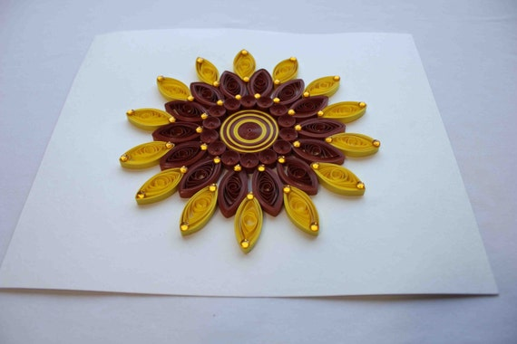 Sunflower Wall Decor, Paper Quilling Art, Mandala Wall Decor, Unique Home  Decor, 3D Wall Decor, Paper Wall Art, Unique Gift For Home Part 54