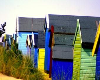 Beach hut picture, seaside photography,  beach hut photography, seaside pictures, nature photography, landscape, seascape, sandy beaches