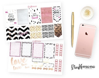 Love Is In The Air Planner Stickers & Matching Clip    Valentine's Day Planner Kit   Erin Condren Stickers   Love Stickers