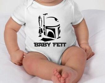 Baby Star Wars Onesie: Baby Fett - Baby Onesie - Star Wars