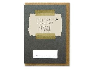 FAVORITE PERSON + designer card