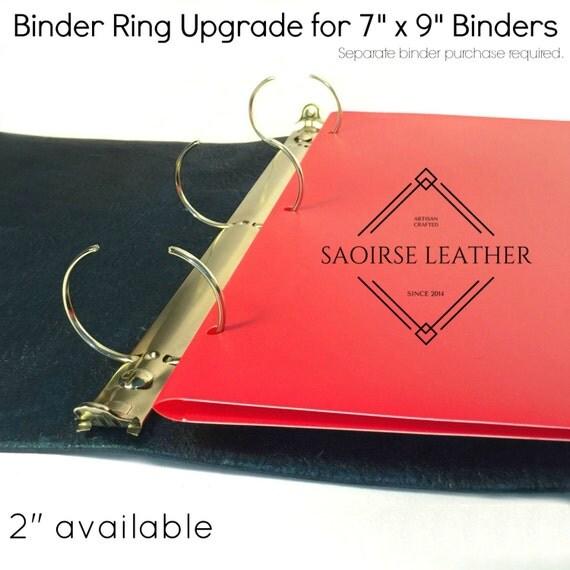 Binder Ring Size Upgrade 7 X 9 Binders Binder