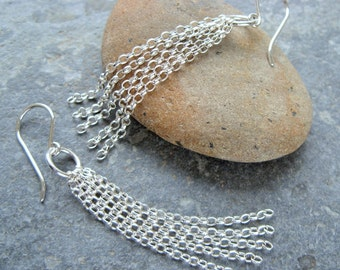 Sterling Silver 'St Ives' Earrings. Handmade Jewellery by Joel Martin of Cornwall