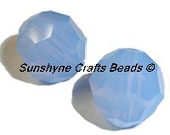 Swarovski Crystal Beads 5000 Series AIR BLUE OPAL Faceted Round Bead - Sizes 6mm,8mm & 10mm available