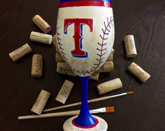 Texas Rangers Game Glass