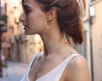 Large Sterling Silver Hoop Earrings - Silver Hoops - Big Hoops - big hoop gold silver earrings - Dainty Gold Hoops - big hoop gold earring