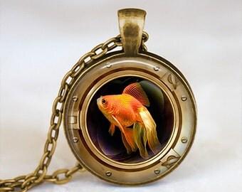 Goldfish Fisheye - Nature Animal Handmade Pendant Necklace