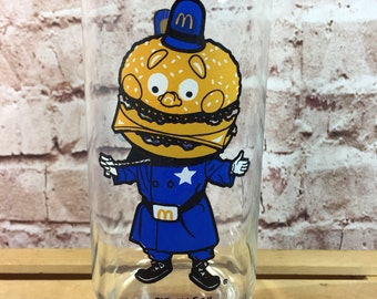 Vintage McDonald's BIG MAC character collector series drinking glass tumbler 1977