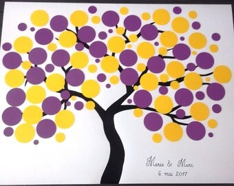 guest book - tree signatures - tree prints for about 130