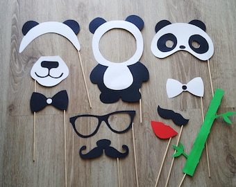 Accessories photobooth x 11 panda theme
