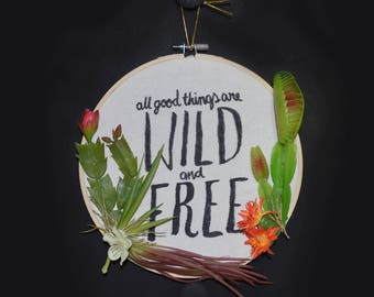 Wild and Free Cactus Wreath