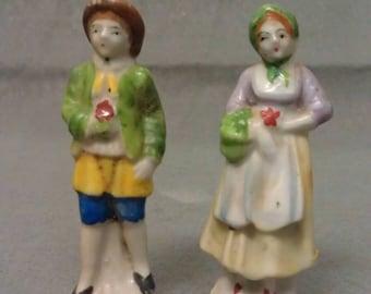 Vintage Victorian Couple Figurines