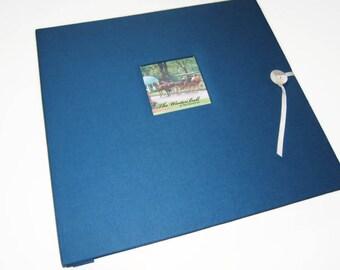 Royal Blue Scrapbook Album - Blue Photo Album - Royal Blue Photo Scrapbook Album - Blue Scrapbook Photo Album - Vacation Scrapbook - Wedding