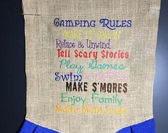Camping flag Etsy