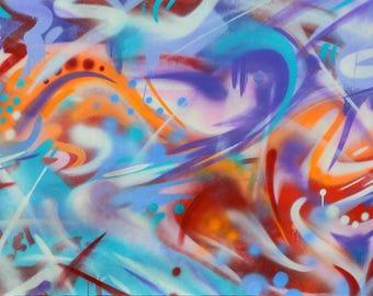 "Abstract Art Print - ""It's Nice Here"" - Abstract Graffiti - Abstract Print - Graffiti Art- Abstract Expressionist - Urban Art - Original Art"