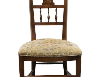 High End Carved Urn High Back Dining Side Chair