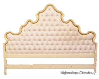 WIDDICOMB Louis XVI French Provincial King Size Tufted Upholstered Headboard