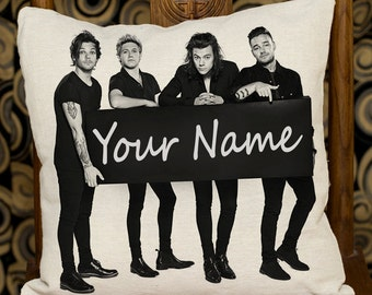 Throw Pillowcase Decorative Cushion Personalized Pillow Cover // Rectangle, Square // Custom Name One Direction WCS_18