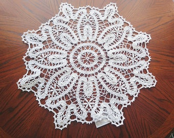 Large crochet round doily nice home  wedding gift, beauty home wall decor - READY to ship