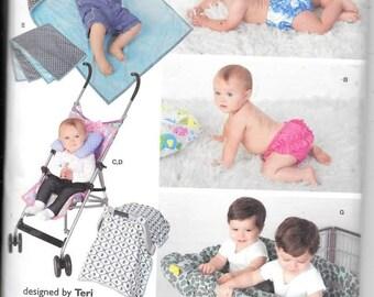 Baby Accessories w/Swim Diaper, One Size, New Simplicity Pattern 1481