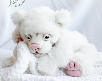 SOLD realistic polar bear cub OOAK polar bear cub Cnuffie