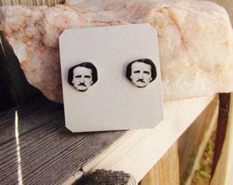 Edgar Allan Poe Stud Earrings Edgar Allan Poe earrings