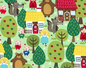 Michael Miller Into the Forest -  cotton quilting fabric by the yard