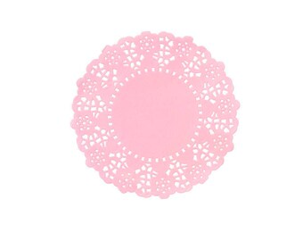 Mini Pink Paper Doilies, Doilies, Cake Decorating, Cake Accessories, Food Decoration, Crafting Supplies, Party Decorations, Wedding Decor