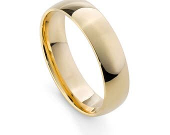 9ct Yellow Gold, Ethical, 5mm Mens Wedding Ring