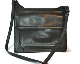 Black, Leather, Fossil, Cross Body, Shoulder Bag