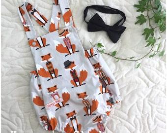 Romper, overalls, jumpsuit, fox, fox romper