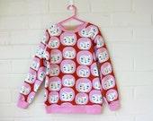 Ladies Custom Small Faces Sweater in AU 6 (XXS)