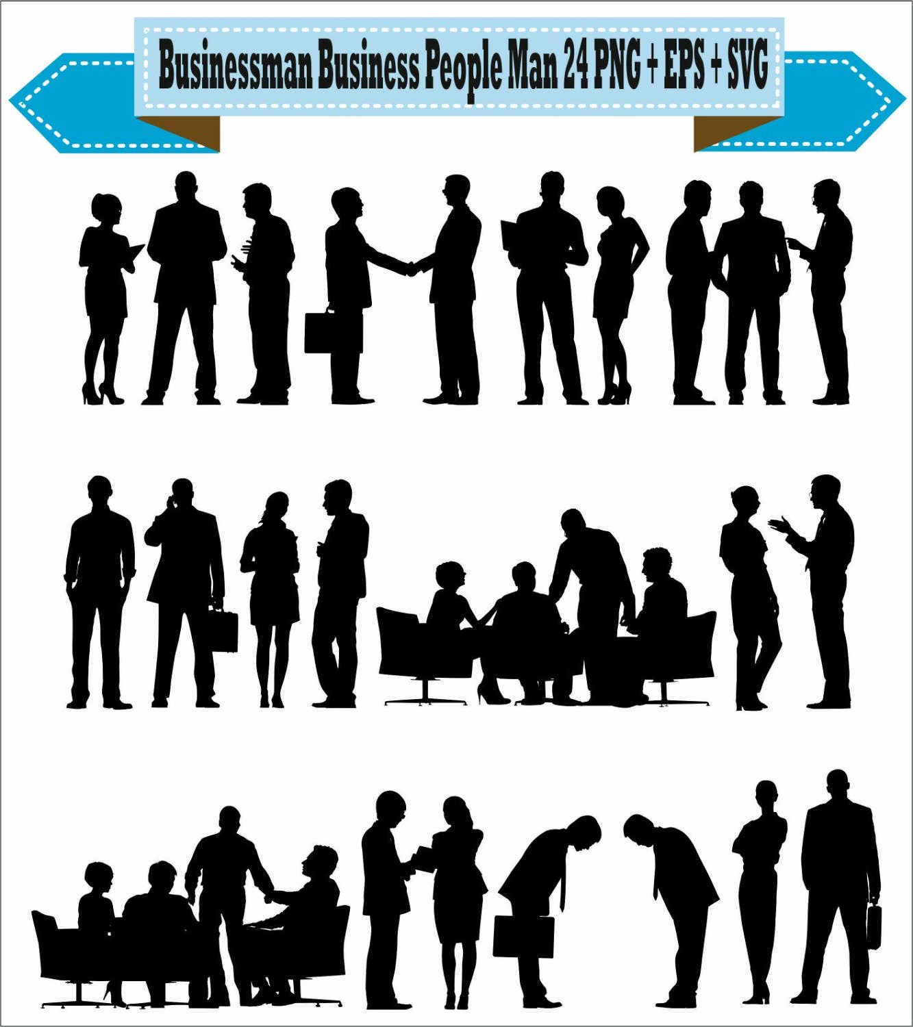 Businessman Business Politic People Meeting Shaking Pack ... for Business People Silhouette Png  59dqh