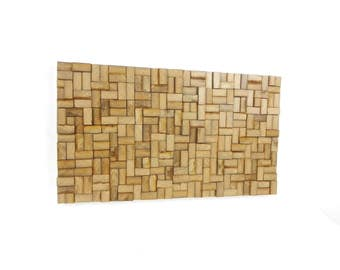 Table decoration, abstract wall wooden wall sculpture in wood, decoration design modern Scandinavian