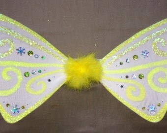 Neon faerie wings