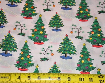 Extra Wide  -  Charlie Brown Christmas Tree - Peanuts Holiday -  100% Cotton Quilt Fabric