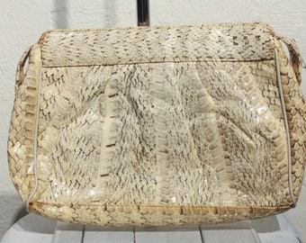 Vintage Andre Cellini Snakeskin Pattern Large Clutch