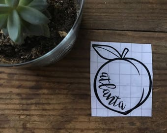 Atlanta Peach Vinyl Sticker