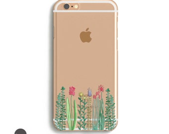 Floral iPhone 7 Case, Phone Cases for iPhone 7, iPhone 7 Plus Floral Case, Cell Phone Case iPhone 6 Plus // Available for iPhone 5, 6, 7
