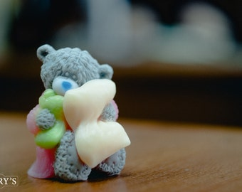 Soap Teddy with pillow, Kid's soap, soap, gift for her, gift for girlfriend, gift for women, gift for girl, homemade Soap, handmade Soap