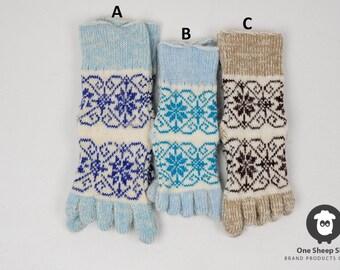 Finger socks, woolen finger socks, warm socks with fingers, knitted socks, warm socks, winter finger socks, women's socks, socks for her