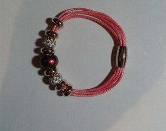 bracelets pink charms