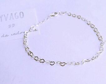 Bracelet in 925 Silver hearts