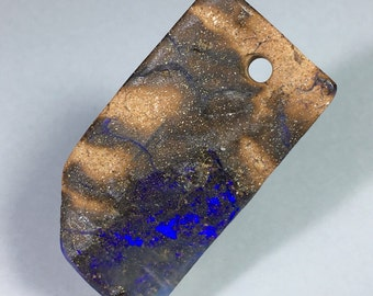 Minus 15% 60.5ct Boulder Opal Cabochon Large Focal Bead Purple Fire Free Shipping