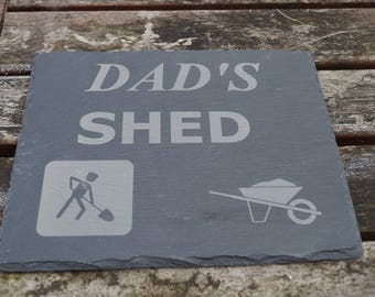dads shed sign, Mans shed sign, slate shed, beer cave, dad's plaque, grandads shed sign, grandmas shed sign, mums shed sign