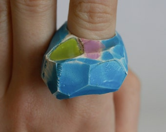 Contemporary Ceramic Quirky Ring