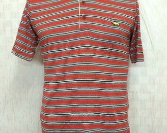 Vintage 80s JACK NICKLAUS Stripes Polo Shirt
