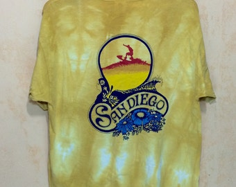 Early 90s SAN DIEGO Surfing Belton Tshirt Single Pocket Adult x-large Size
